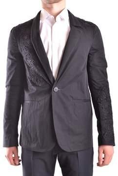 Isabel Benenato Men's Black Cotton Blazer.