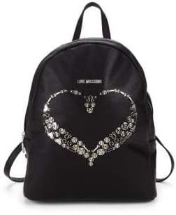 Love Moschino Hardware Heart Embellished Backpack