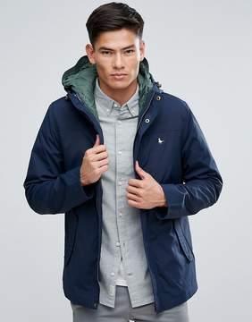 Jack Wills Bowfell 2 In 1 Jacket & Quilted Vest In Navy