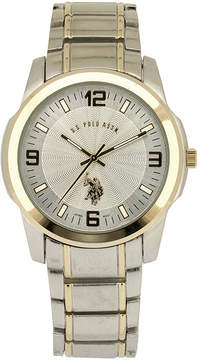 U.S. Polo Assn. USPA Mens Two Tone Bracelet Watch-Usc80031