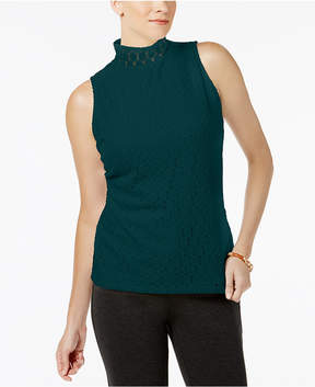 Charter Club Lace Mock-Neck Top, Created for Macy's