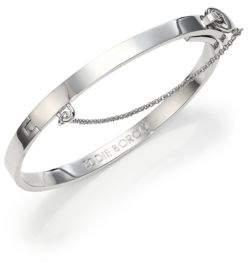 Eddie Borgo Thin Safety Chain Bracelet/Silvertone
