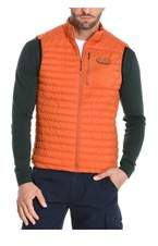Aeronautica Militare Men's Orange Polyester Vest.