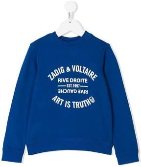 Zadig & Voltaire Kids Art Is Truth print sweatshirt