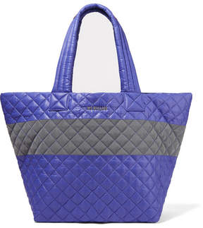 MZ Wallace Metro Medium Quilted Shell Tote - Blue