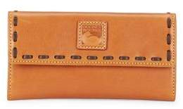 Dooney & Bourke Tri-Fold Leather Wallet - NATURAL - STYLE