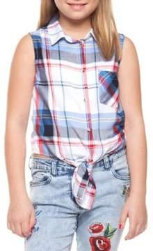 Dex Girl's Plaid Top