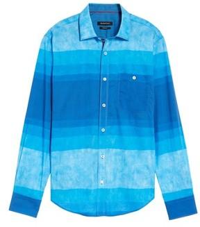 Bugatchi Men's Shaped Fit Colorblock Sport Shirt