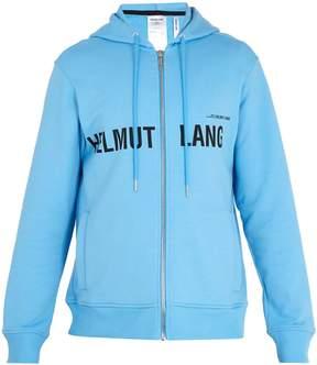 Helmut Lang Logo-print cotton hooded sweater