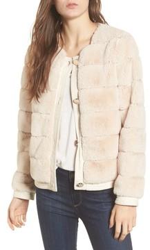 Eliza J Women's Faux Fur Jacket