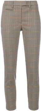 Dondup houndstooth plaid print cropped trousers