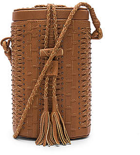 Cleobella Crosstown Bucket Bag in Brown.