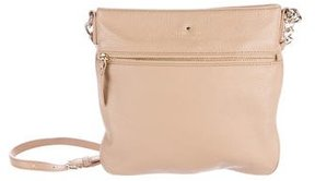Kate Spade Grained Leather Crossbody Bag - BROWN - STYLE
