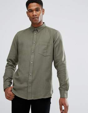 French Connection Flannel Plain Shirt