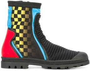 Maison Margiela printed ribbed ankle boots