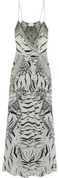 Camilla Crystal-Embellished Printed Silk Crepe De Chine Wrap Maxi Dress