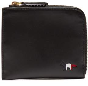 MAISON KITSUNÉ Cut-out logo zip-around leather wallet