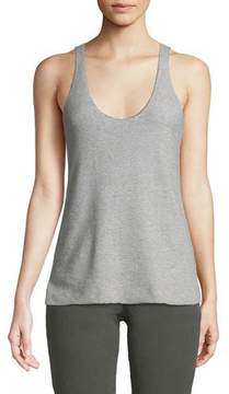 ATM Anthony Thomas Melillo Scoop-Neck Cotton Cashmere Tank
