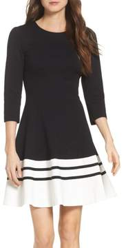 Eliza J Women's Ponte Fit & Flare Dress