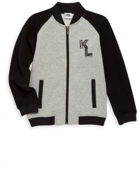 Karl Lagerfeld Toddler's, Little Boy's & Boy's Raglan Zip-Up Sweatshirt