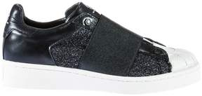 Moa Elastic Strapped Glittered Sneakers