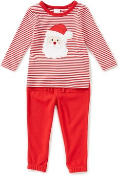 Starting Out Baby Boys 12-24 Months Christmas Santa Striped Tee & Pants Set