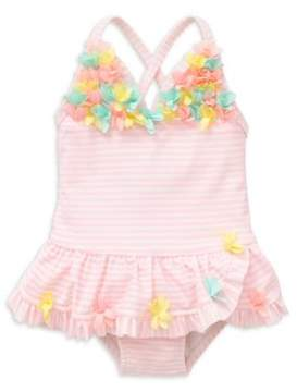 Little Me Baby Girl's 3D Multi Print One-Piece Swimsuit