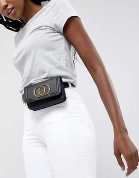 Asos DESIGN purse belt with double circle detail