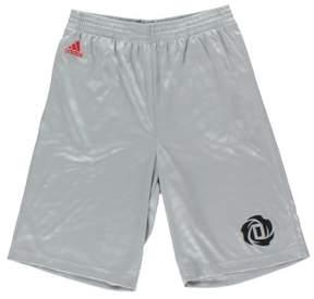 adidas Boys Rose Bengal Basketball Shorts Grey