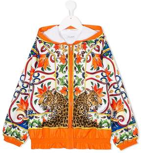 Dolce & Gabbana floral print hooded jacket