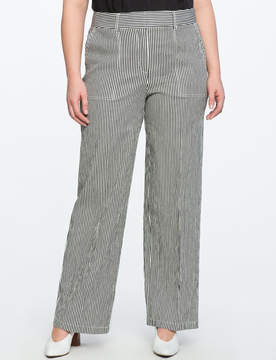 ELOQUII Striped Wide Leg Trouser