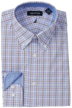 Nautica Windowpane Plaid Stretch Classic Fit Dress Shirt