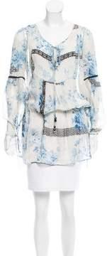 Blumarine Silk Floral Print Blouse