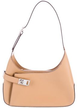 Salvatore Ferragamo Leather Gancini Shoulder Bag