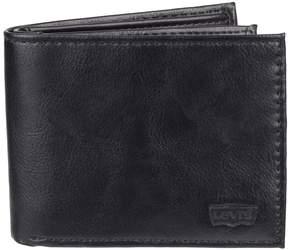 Levi's Levis Men's RFID-Blocking Extra-Capacity Black Slimfold Wallet