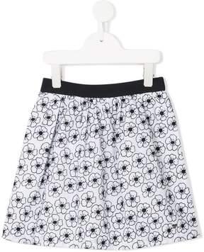Emporio Armani Kids floral print skirt