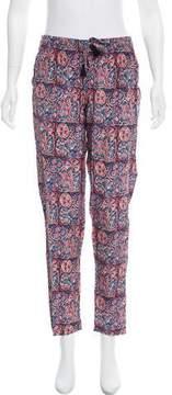 Figue Silk Printed Straight-Leg Pants w/ Tags