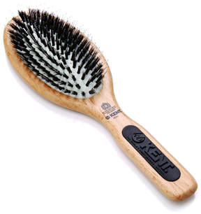 Kent Natural Shine Large Porcupine + Bristle Hairbrush - NS01