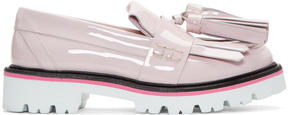 MSGM Pink Patent Fringe Tassel Loafers