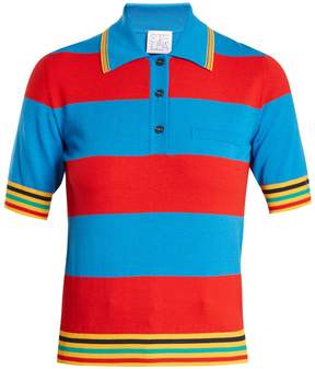 Stella Jean Striped knit polo shirt