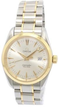 Omega Seamaster Aqua Terra 2317.30 Stainless Steel 18k White Gold Quartz 36.5mm Mens Watch