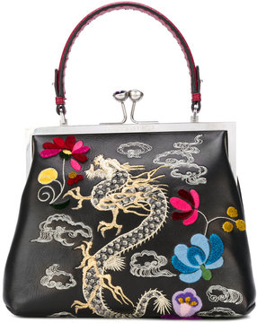 Ermanno Scervino dragon embroidery tote