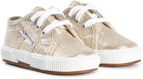 Superga Gold Lame Trainers