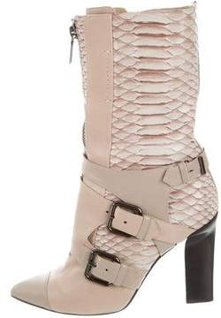 Reed Krakoff Python Mid-Calf Boots