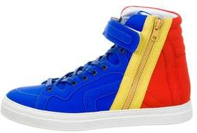 Pierre Hardy Leather High-Top Sneakers w/ Tags