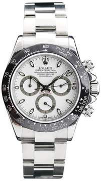 Rolex Daytona 116520 Stainless Steel White Face Black Ceramic Bezel 40mm Mens Watch