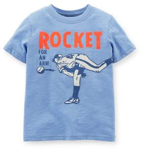 Carter's Baby Clothing Outfit Boys Rocket Pitcher Tee T-shirt Blue