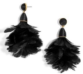 BaubleBar Women's Parisian Feather Tassel Drop Earrings