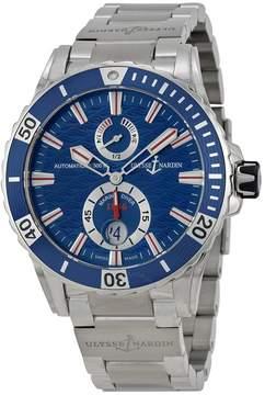 Ulysse Nardin Maxi Marine Diver Blue Dial Stainless Steel Men's Watch 263-10-7M-93
