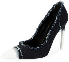 Tom Ford Frayed Ombre Denim 105mm Pump